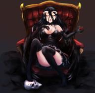 artist:ms7032121 character:albedo copyright:overlord copyright:overlord_(maruyama) general:1girl general:alcohol general:black_dress general:black_gloves general:black_hair general:black_legwear general:black_thighhighs general:black_wings general:breasts general:chair general:cleavage general:cup general:demon_girl general:demon_horns general:demon_wings general:dress general:drink general:elbow_gloves general:female general:gloves general:golden_eyes general:horns general:large_breasts general:long_hair general:looking_up general:open_mouth general:sitting general:skull general:solo general:stockings general:thighhighs general:wine general:wine_glass general:wings general:yellow_eyes medium:high_resolution medium:very_high_resolution technical:grabber // 2480x2440 // 3.6MB