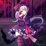 character:shalltear_bloodfallen copyright:overlord_(maruyama) general:1girl general:bonnet general:bow general:dress general:fang general:female general:frilled_dress general:frills general:gothic_lolita general:lolita_fashion general:long_hair general:looking_at_viewer general:one_eye_closed general:pointed_ears general:ponytail general:red_eyes general:sash general:silver_hair general:smile general:solo general:standing general:striped general:striped_legwear general:striped_thighhighs general:thighhighs general:tied_hair general:vampire general:yukino810 medium:1:1_aspect_ratio tagme technical:grabber // 1000x1000 // 261.6KB