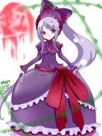 character:shalltear_bloodfallen copyright:overlord_(maruyama) general:1girl general:bonnet general:bow general:dress general:female general:frilled_dress general:frills general:gothic_lolita general:lolita_fashion general:long_hair general:looking_at_viewer general:masyu335 general:ponytail general:red_eyes general:sidelocks general:silver_hair general:smile general:solo general:standing general:tied_hair medium:high_resolution medium:simple_background tagme technical:grabber // 1200x1600 // 1.2MB