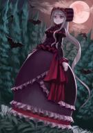 artist:wasabi60 character:shalltear_bloodfallen copyright:overlord_(maruyama) general:1girl general:bat general:bonnet general:cloud general:cloudy_sky general:dress general:forest general:frills general:from_below general:full_body general:gothic_lolita general:gown general:lolita_fashion general:long_hair general:looking_down general:moon general:nature general:night general:pale_skin general:ponytail general:red_eyes general:red_moon general:ribbon general:silver_hair general:sky general:smile general:tree general:vampire general:very_long_hair meta:commentary tagme technical:grabber // 833x1178 // 1.3MB