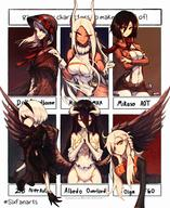 character:albedo character:mikasa_ackerman character:olga_marie_animusphere character:plain_doll character:usagiyama_rumi character:yorha_no._2_type_b copyright:bloodborne copyright:boku_no_hero_academia copyright:fategrand_order copyright:fate_(series) copyright:nier_(series) copyright:nier_automata copyright:overlord_(maruyama) copyright:shingeki_no_kyojin general:6+girls general:animal_ears general:black_dress general:black_hair general:bonnet general:braid general:breasts general:bunny_ears general:character_name general:cropped_jacket general:crossed_arms general:demon_girl general:demon_horns general:dress general:fur_collar general:hair_between_eyes general:highleg general:highleg_leotard general:hip_vent general:horns general:jin_grey_paladin general:large_breasts general:leotard general:long_hair general:medium_breasts general:mole general:mole_under_mouth general:multiple_girls general:muscle general:muscular_female general:no_panties general:outside_border general:pale_skin general:paradis_military_uniform general:red_scarf general:scarf general:side_braid general:silver_hair general:six_fanarts_challenge general:skirt_over_leggings general:three-dimensional_maneuver_gear general:very_long_hair general:white_hair metadata:artist_request metadata:commentary metadata:english_commentary metadata:highres technical:grabber // 1952x2389 // 786.7KB
